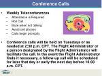 conference calls