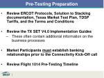 pre testing preparation