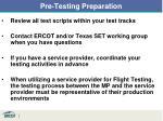 pre testing preparation1