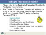 testing to production checklist