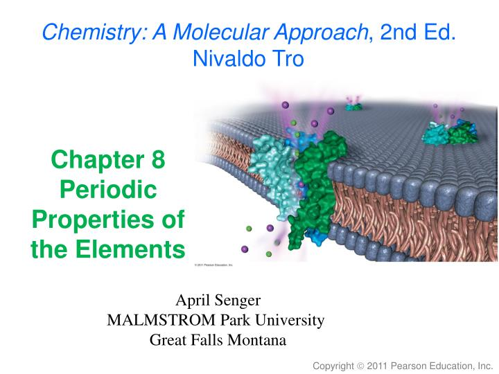 chapter 8 periodic properties of the elements n.