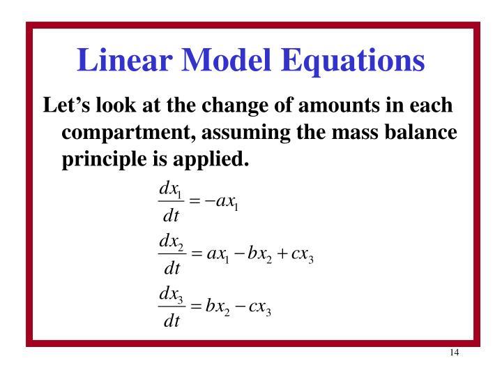 Linear Model Equations
