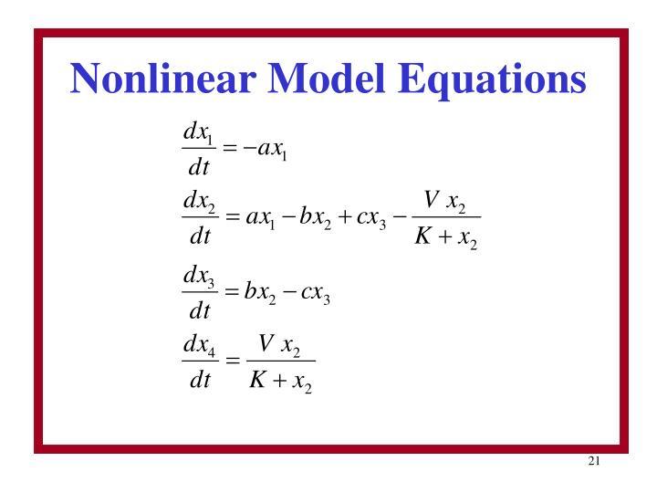 Nonlinear Model Equations