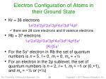 electron configuration of atoms in their ground state1