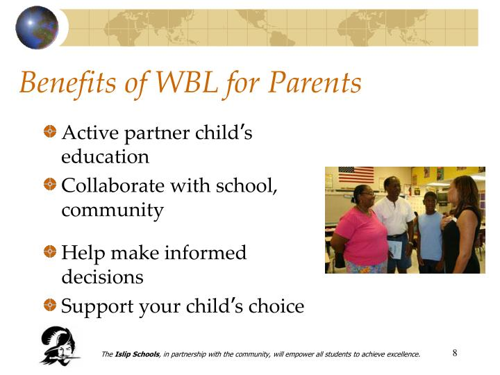 Benefits of WBL for Parents
