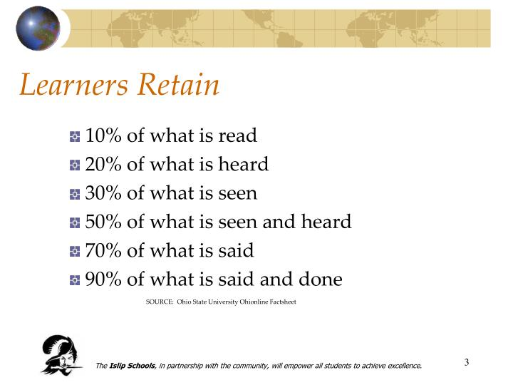 Learners retain