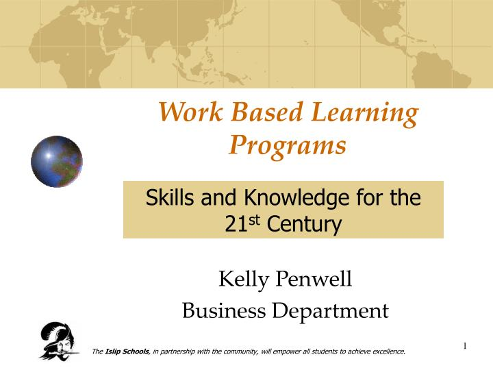 Work based learning programs