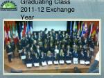 graduating class 2011 12 exchange year