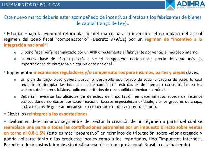 LINEAMIENTOS DE POLITICAS