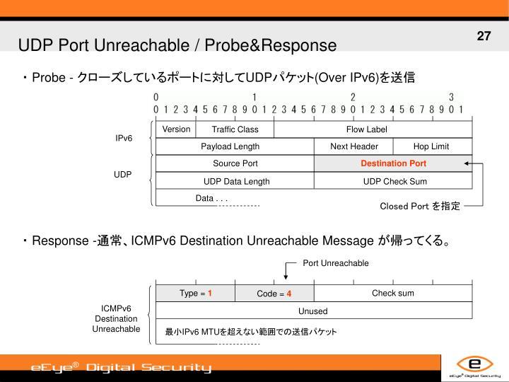UDP Port Unreachable / Probe&Response