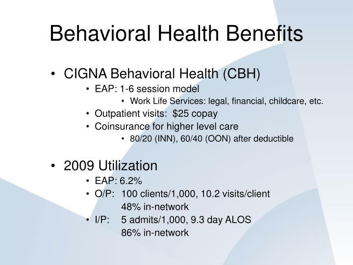 Behavioral Health Benefits