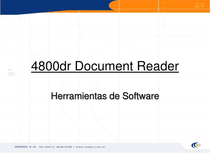 4800dr Document Reader
