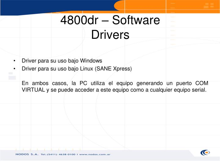 Driver para su uso bajo Windows