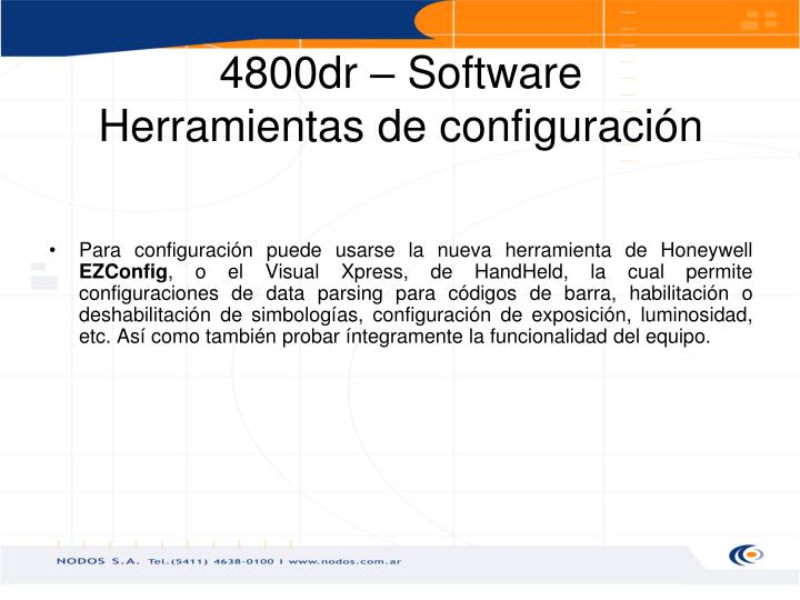 4800dr – Software