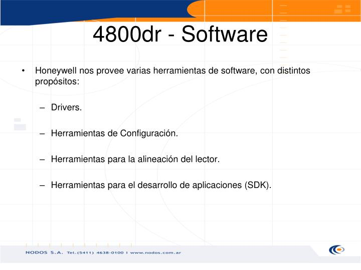 4800dr - Software