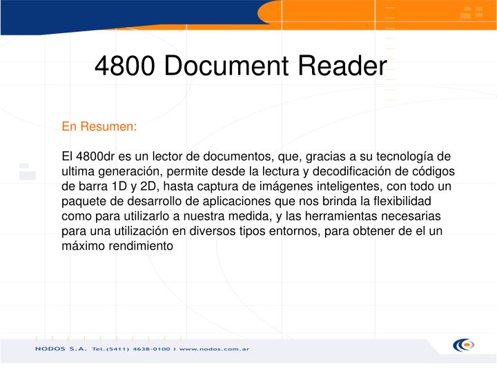 4800 Document Reader