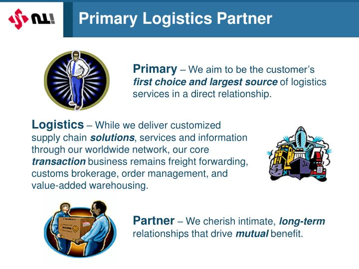 Primary Logistics Partner