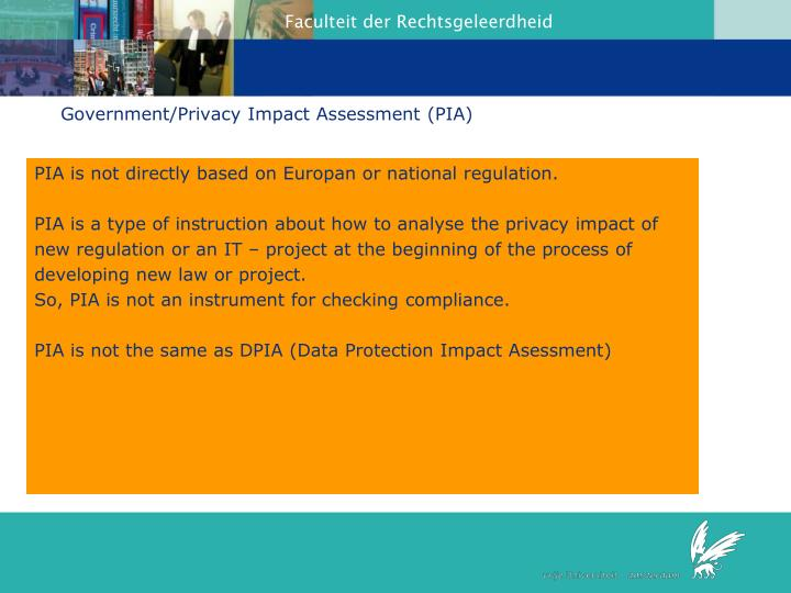 Government/Privacy Impact Assessment (PIA)