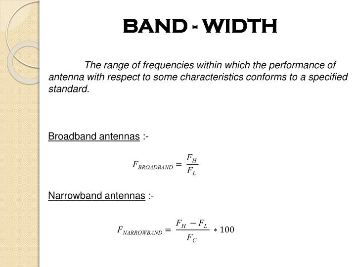 BAND - WIDTH