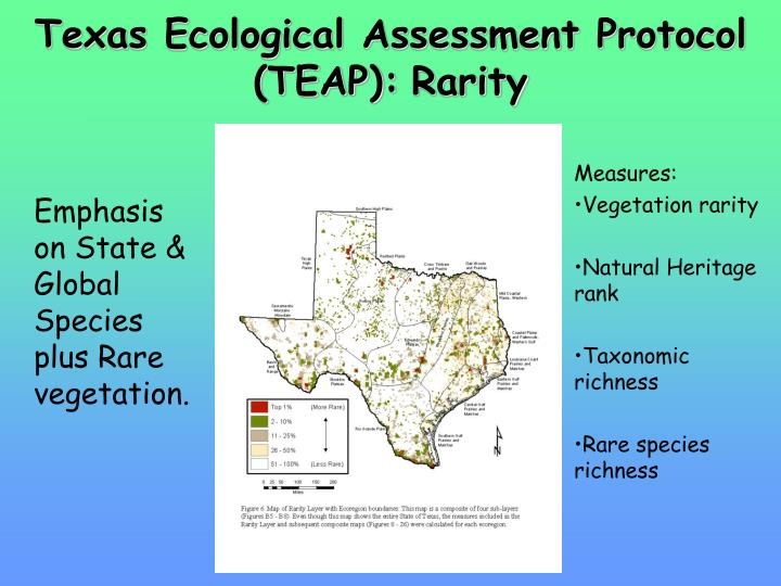 Texas Ecological Assessment Protocol (TEAP)