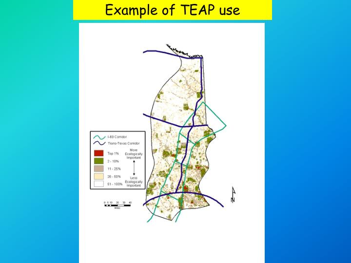 Example of TEAP use