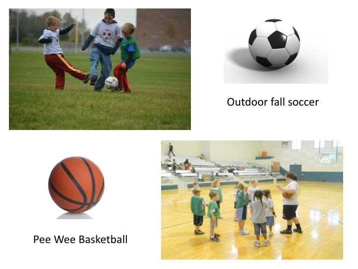 Outdoor fall soccer