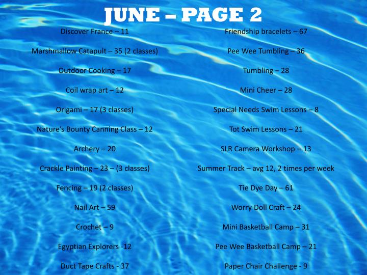 JUNE – PAGE 2