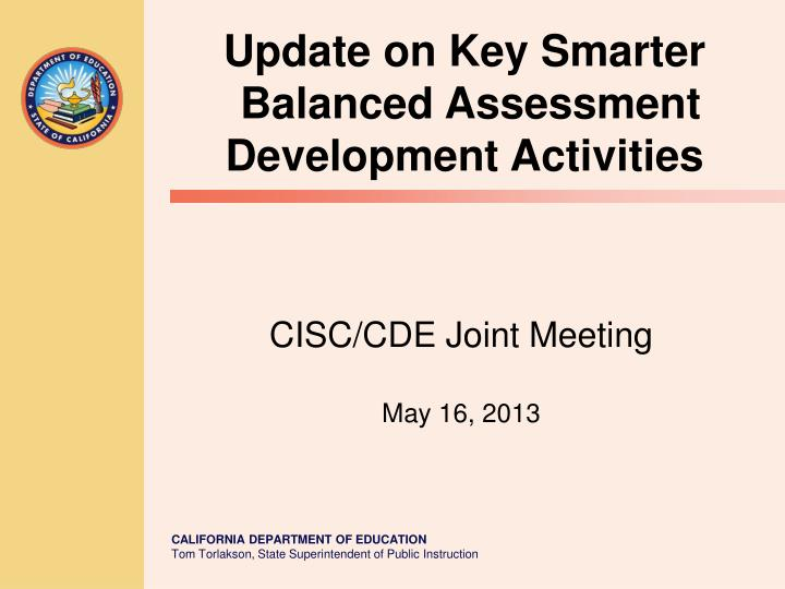 cisc cde joint meeting may 16 2013 n.