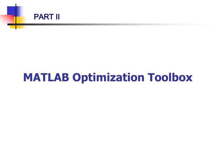 MATLAB Optimization Toolbox