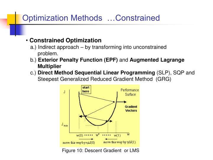Optimization Methods  …Constrained