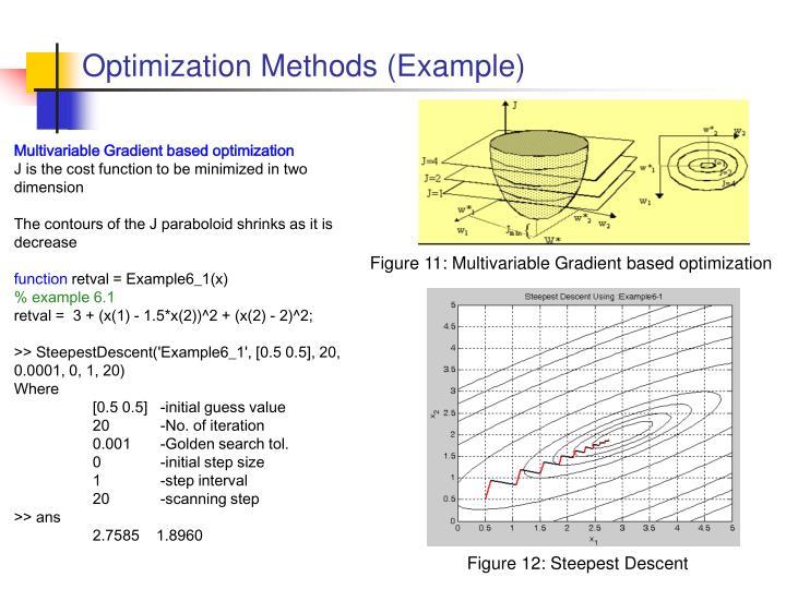 Optimization Methods (Example)