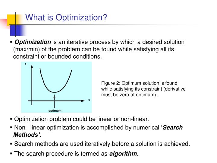 What is optimization