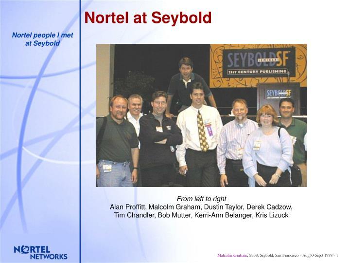 Nortel at seybold