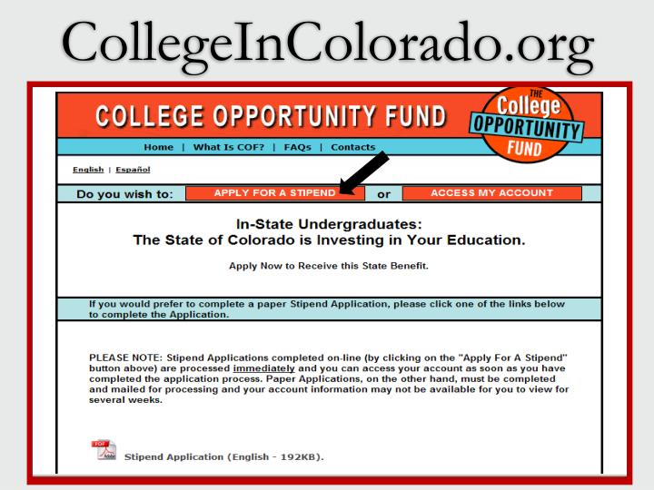 CollegeInColorado.org