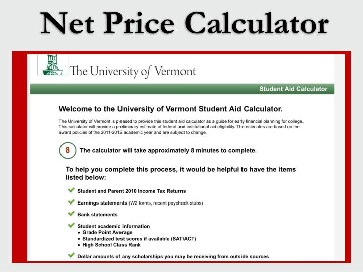 Net Price Calculator