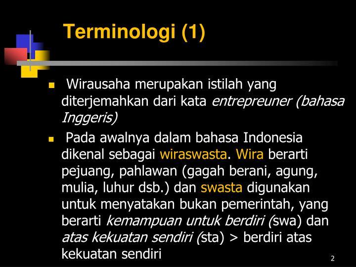 Terminologi 1