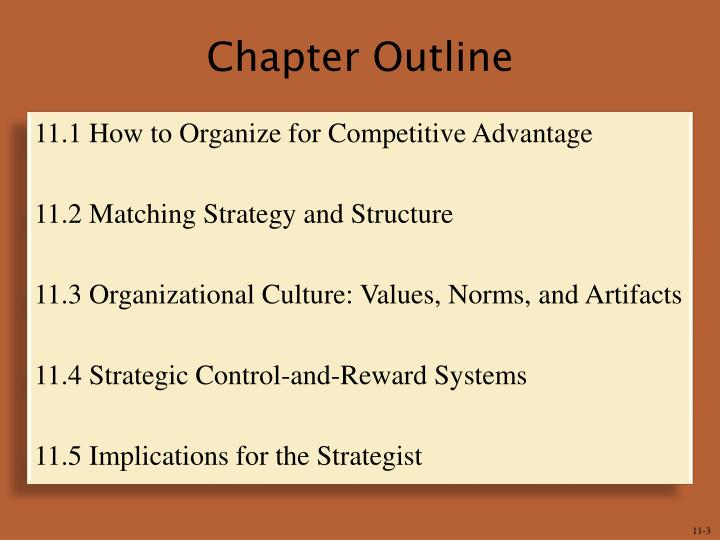 organizational culture paper and presentation outline Sample essay organizational culture is related to the field of management and organizational studies and it is directly related to the attitudes, beliefs, norms and values which are related to an organization.