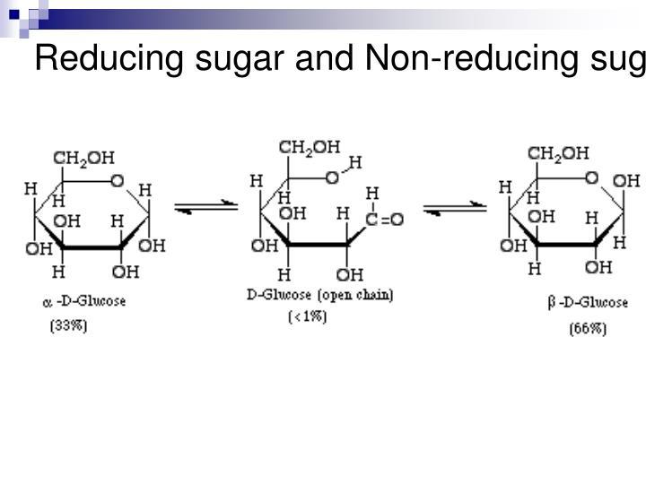 Reducing sugar and Non-reducing sugar
