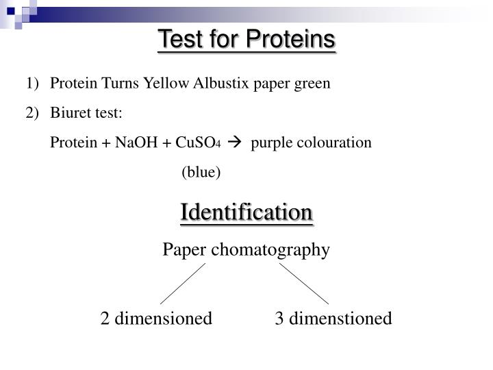 Test for Proteins