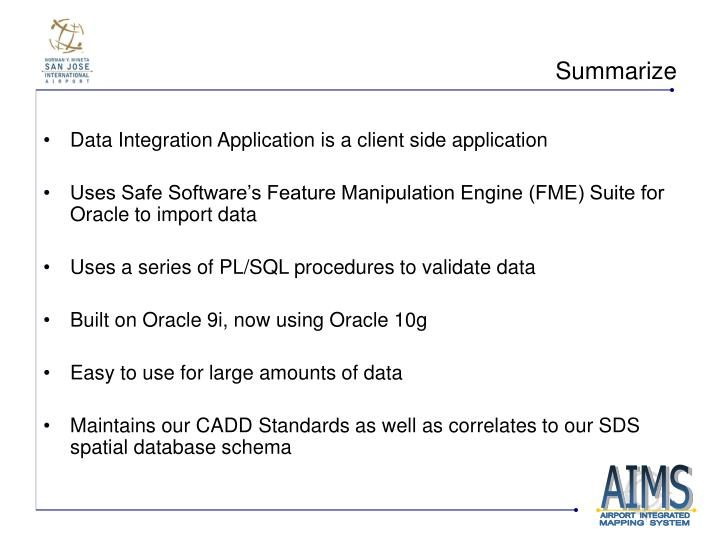 Data Integration Application is a client side application