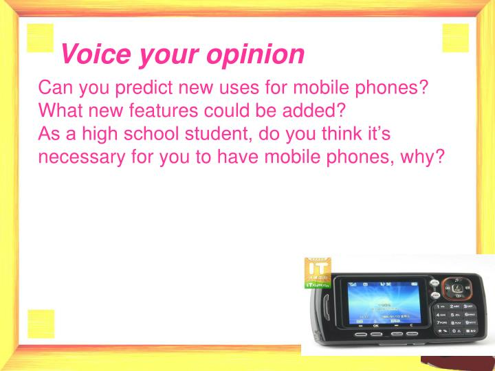 Voice your opinion