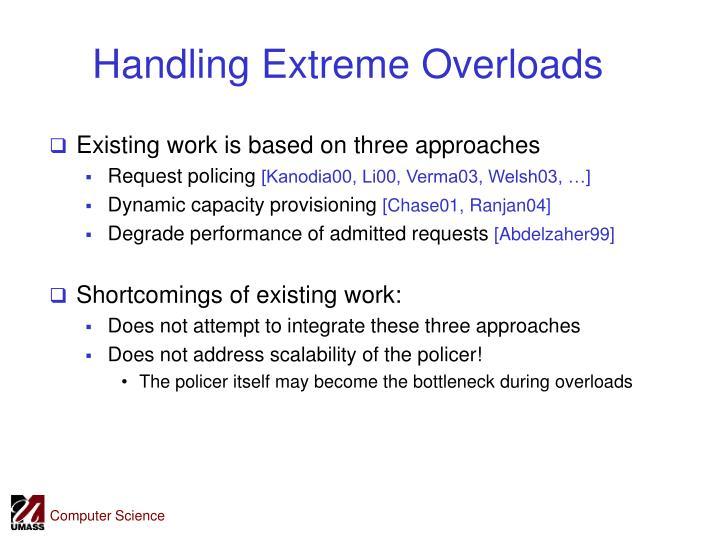 Handling Extreme Overloads