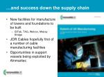 and success down the supply chain