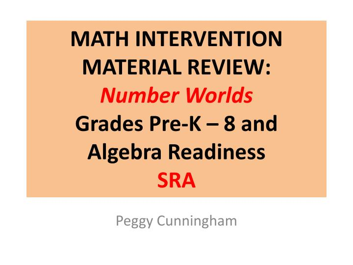 math intervention material review number worlds grades pre k 8 and algebra readiness sra