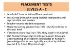 placement tests levels a c