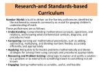 research and standards based curriculum1