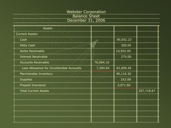 Webster Corporation
