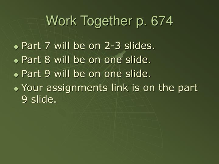 Work Together p. 674
