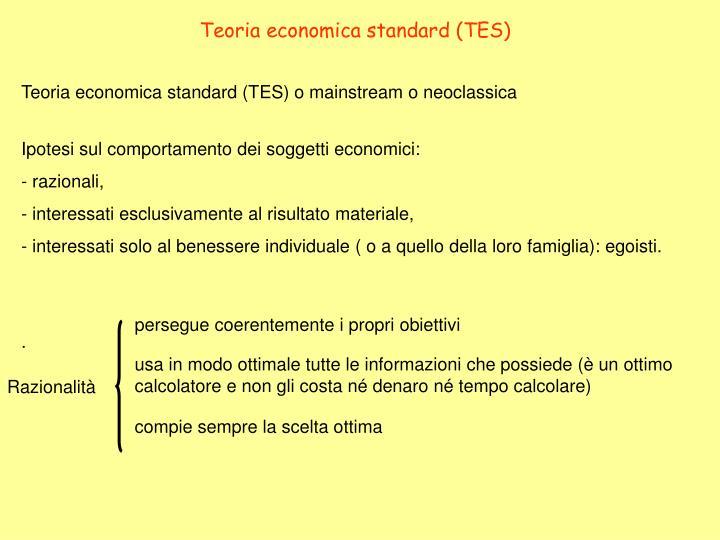 Teoria economica standard (TES)