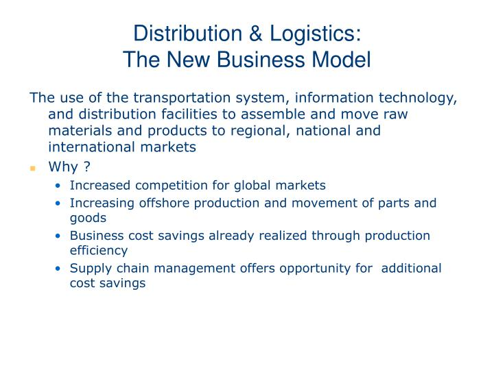 Distribution & Logistics: